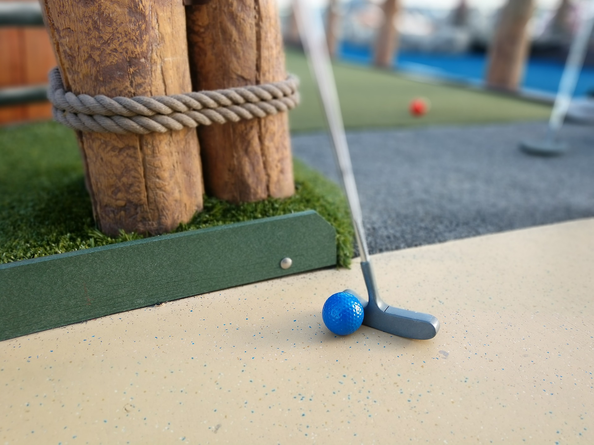 Mini Golf ball and putter