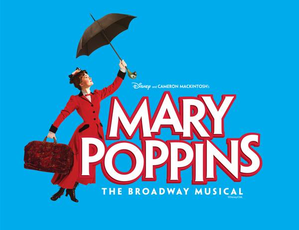 Flyer of Mary Poppins the musical at the Manatee Performing Arts Center