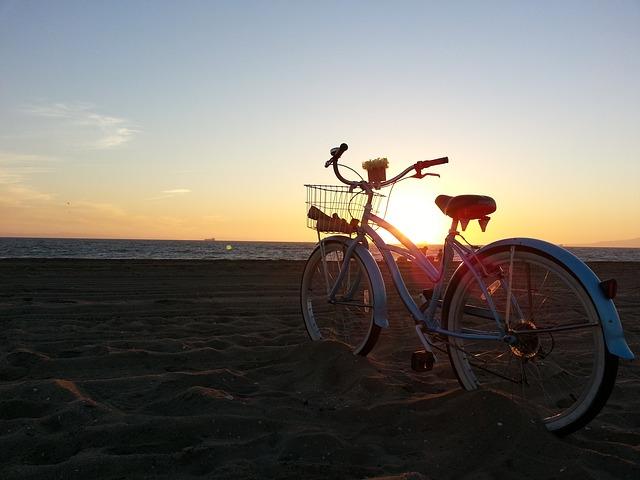 Bike on the beach in Anna Maria Island