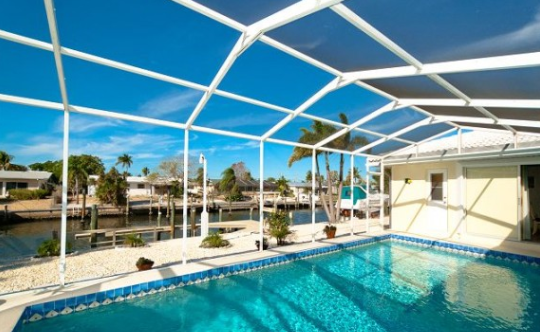 View of the pool at the Sailors Dream || Florida Dreams Realty