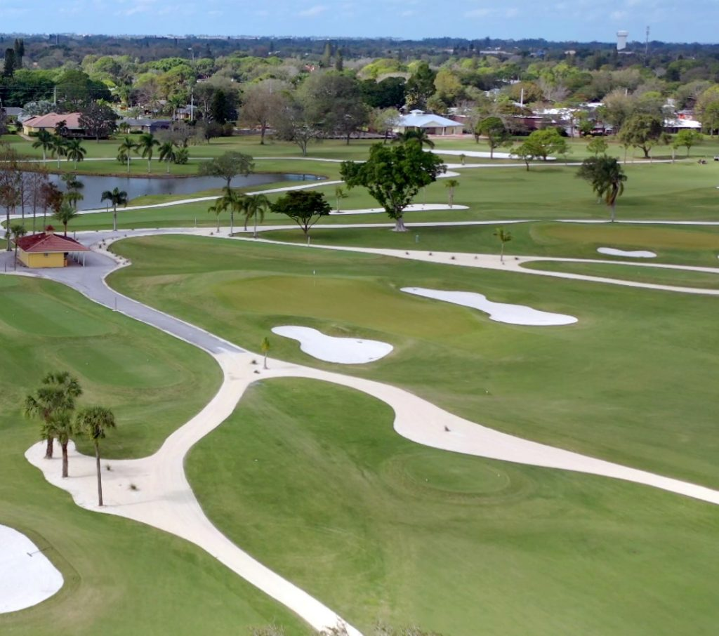 overhead view of a golf course in bradenton
