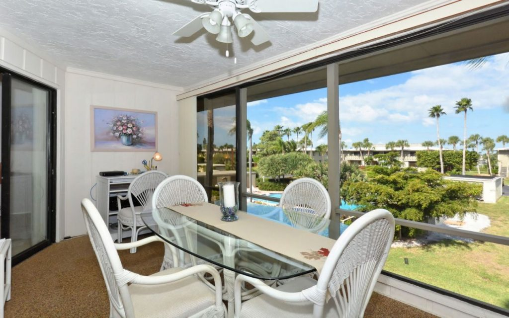 Balcony of condo in Anna Maria Island