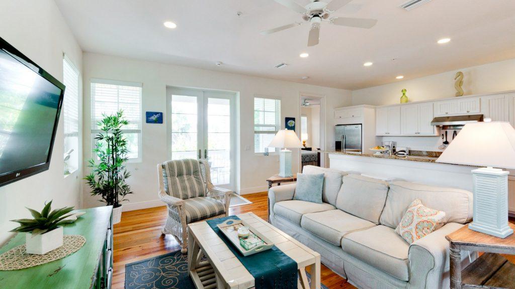 Anna Maria Island condo rental living room